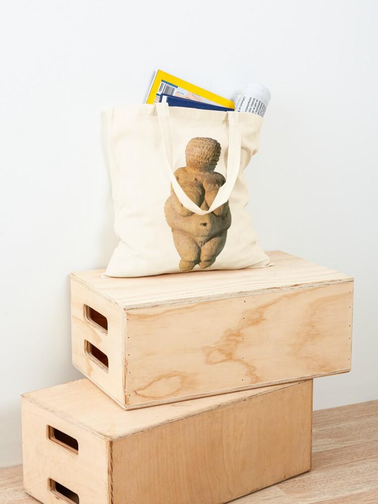 Alternate view of #Venus of #Willendorf #artifact sculpture art figurine statue humanbody #VenusofWillendorf Tote Bag