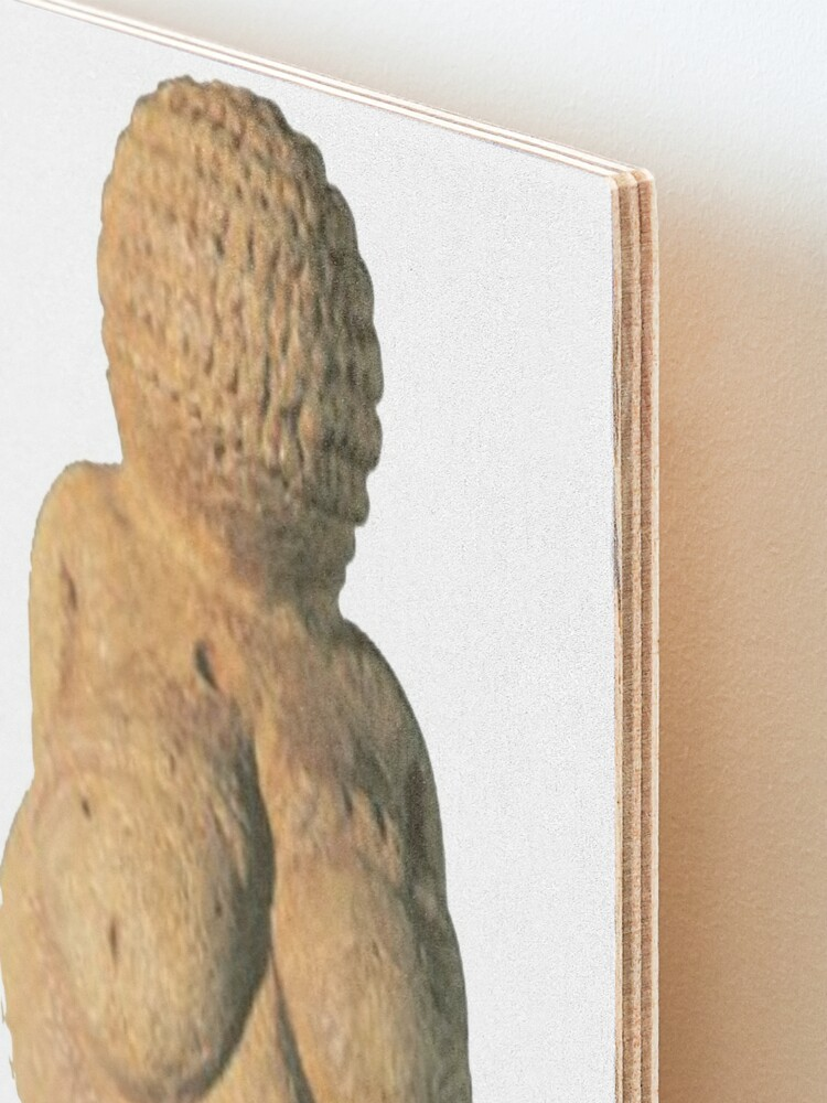Alternate view of #Venus of #Willendorf #artifact sculpture art figurine statue humanbody #VenusofWillendorf Mounted Print