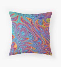 Retro psychedelic pattern Floor Pillow