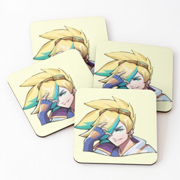 Ezreal Emote - League of Legends Coasters (Set of 4)
