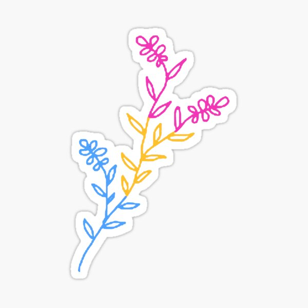 pan flower Sticker