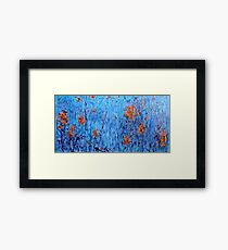Fireflies by the Lake - Painting Framed Print