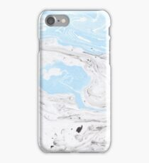 Suminagashi Love, Gray and Blue iPhone Case/Skin