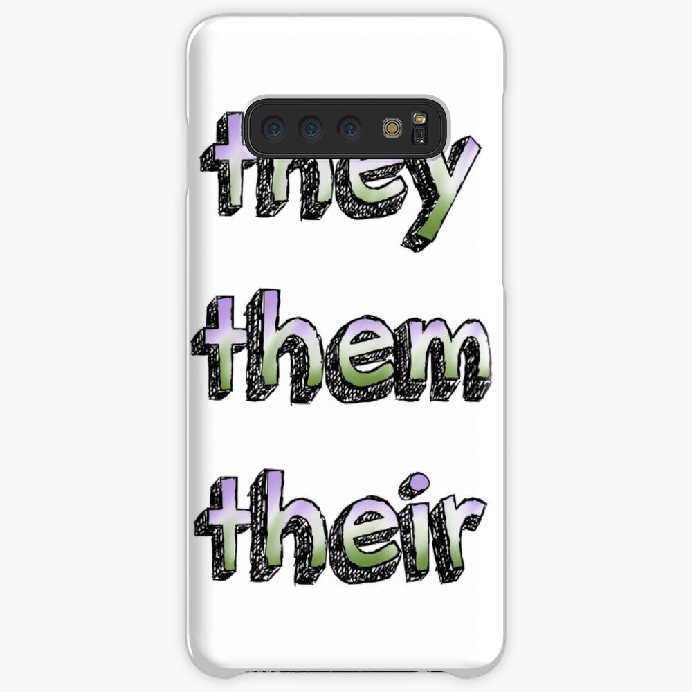 They/Them/Their Pronouns w/Gender Queer Flag Case & Skin for Samsung Galaxy