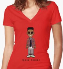 Prince School'n Women's Fitted V-Neck T-Shirt