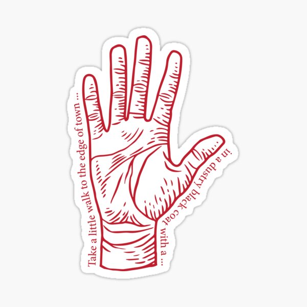 Red Right Hand with Lyrics Sticker