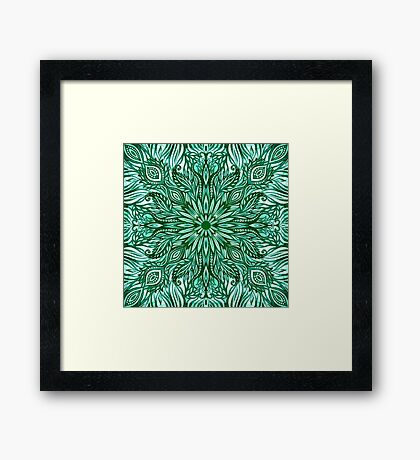 - Emerald pattern - Framed Print