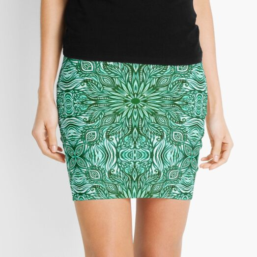 - Emerald pattern - Mini Skirt