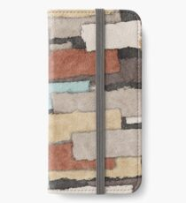 Abstract Earth Tones Patchwork iPhone Wallet/Case/Skin