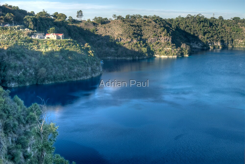 Blue Lake, Mt Gambier, South Australia by Adrian Paul