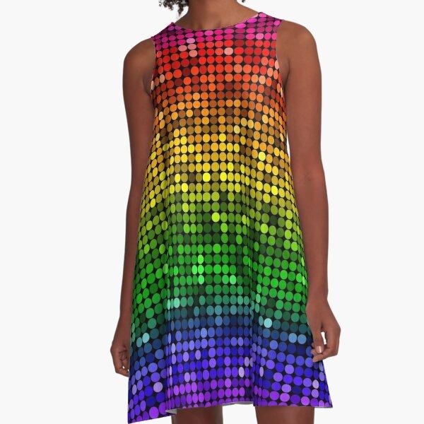 Glitter Rainbow Sequin Pride LGBT A-Line Dress