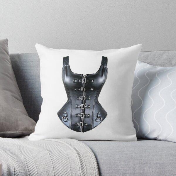 #Technopunk, #Victorian #Futurism, #VictorianStyle, VictorianStyleArt, Steampunk Bondage Throw Pillow