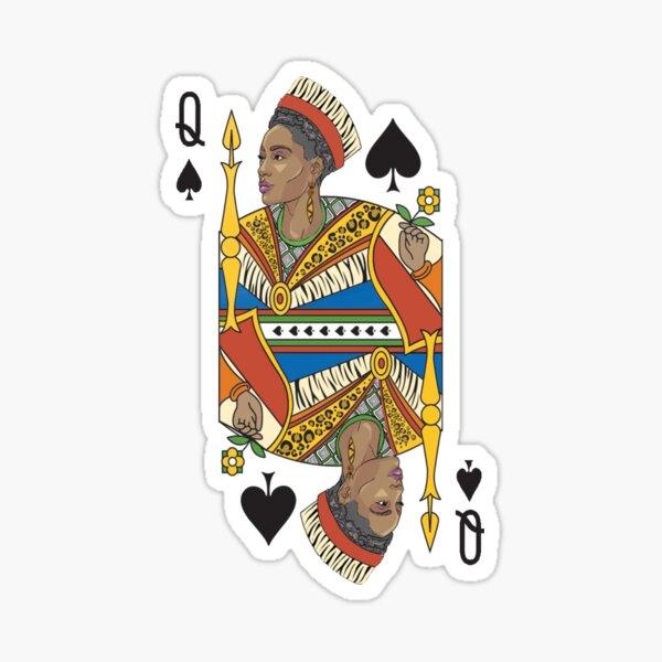 BLACK QUEEN | Gifts for women, African American Queen, Afro European Queen.  Sticker