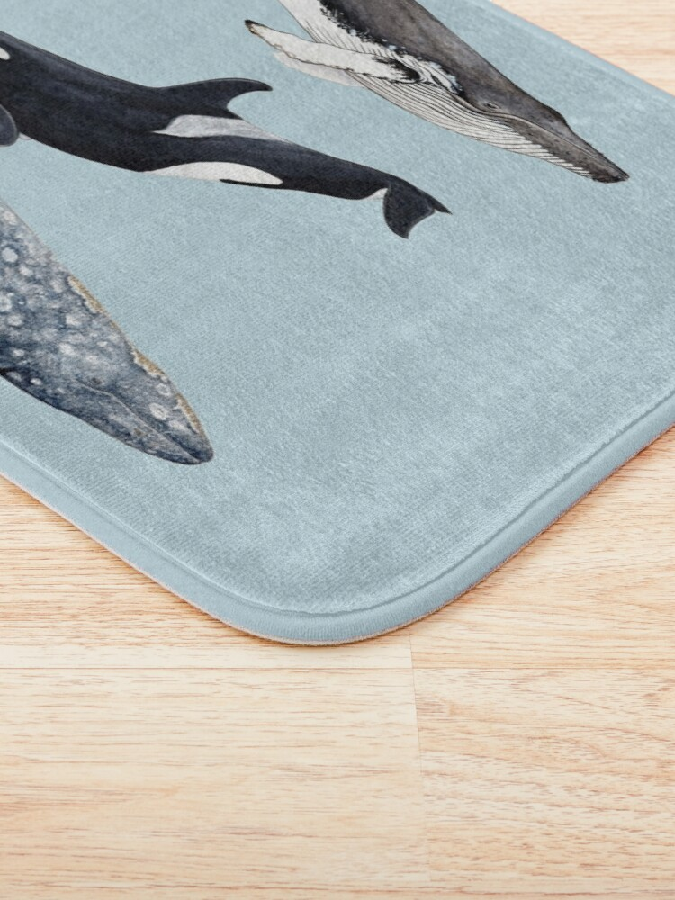 Alternate view of Orca, humpback and grey whale Bath Mat