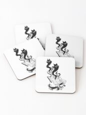 Demon Book Coasters
