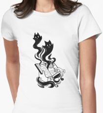 Demon Book Fitted T-Shirt