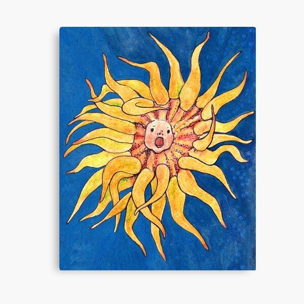 Sea Anemone, Actinia, Bizarre Marine Creature, Surreal Canvas Print