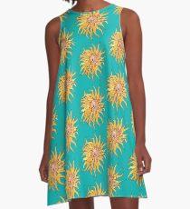 Sea Anemone, Actinia, Bizarre Marine Creature, Surreal A-Line Dress