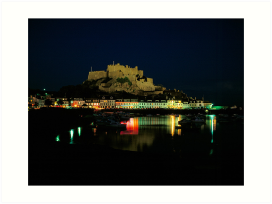 Mt.Orgueil Castle & Gorey Harbour, Jersey by David A. L. Davies