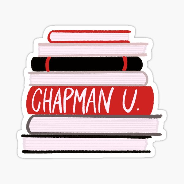 Chapman University Stack of Books Sticker