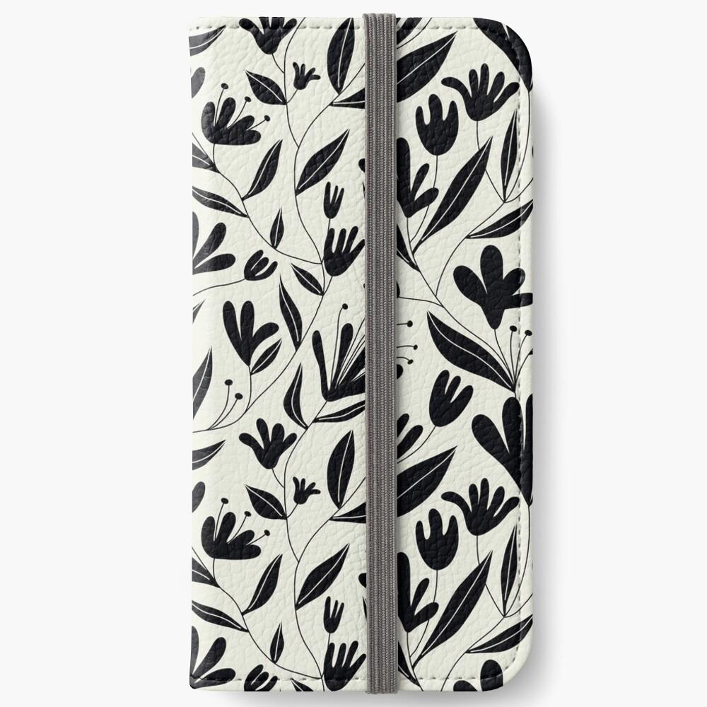 Black bloom iPhone Wallet