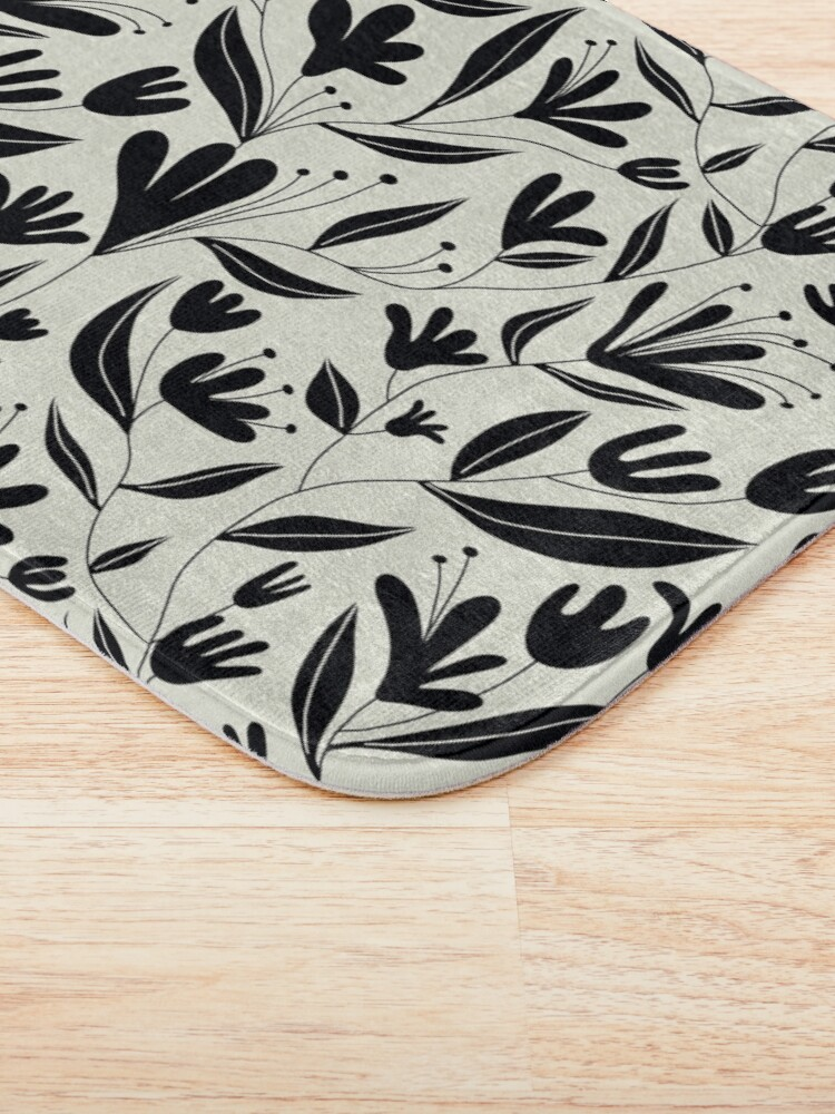 Alternate view of Black bloom Bath Mat