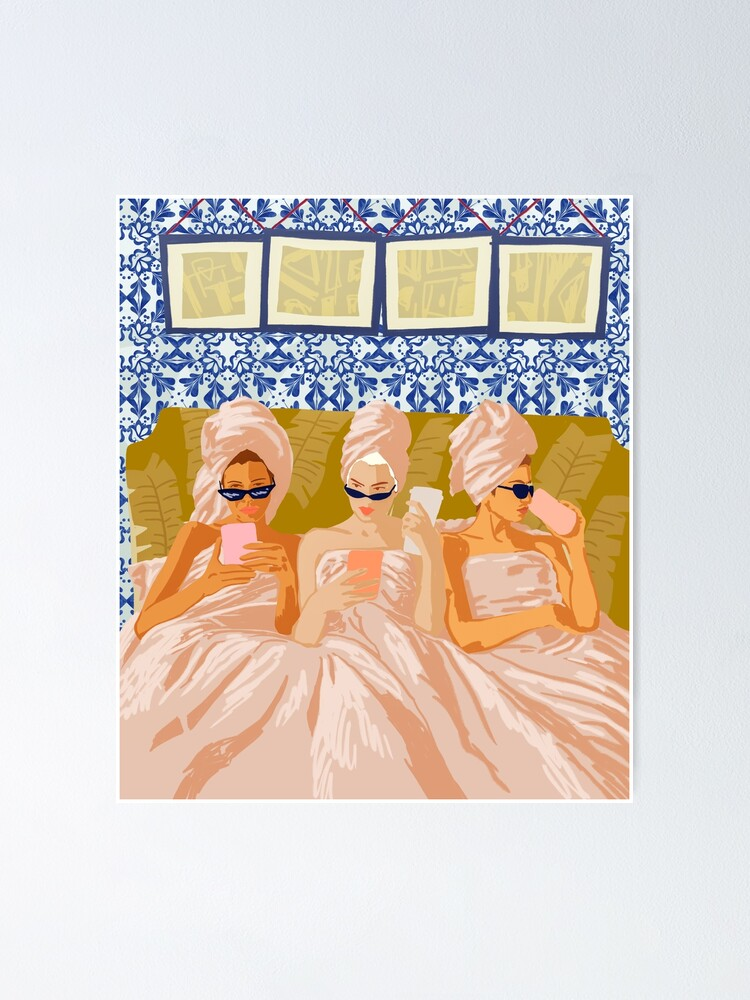 Alternate view of Ladies-Only Club #illustration #painting Poster