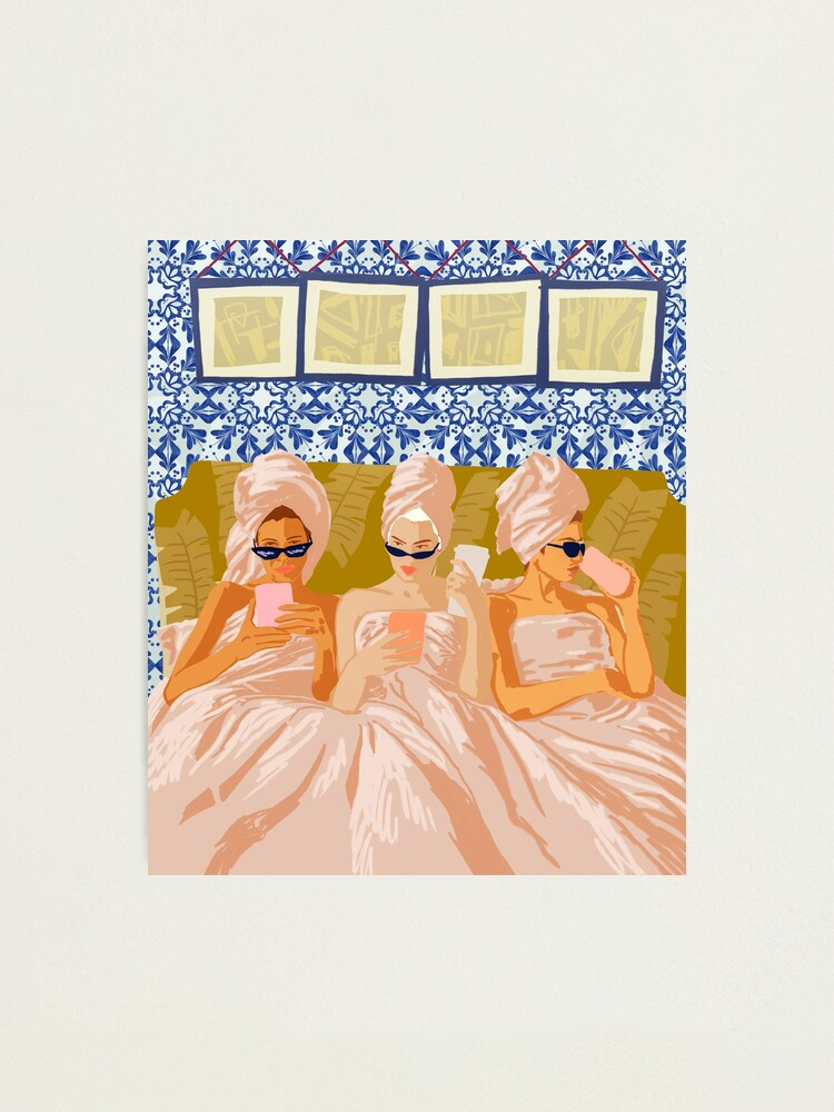 Alternate view of Ladies-Only Club #illustration #painting Photographic Print