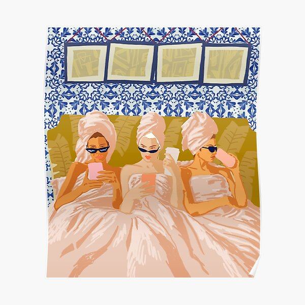 Club pour femmes uniquement #illustration #painting Poster
