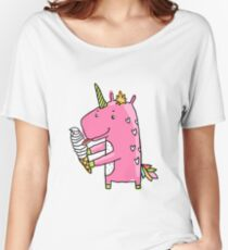 Unicorn and ice cream Women's Relaxed Fit T-Shirt