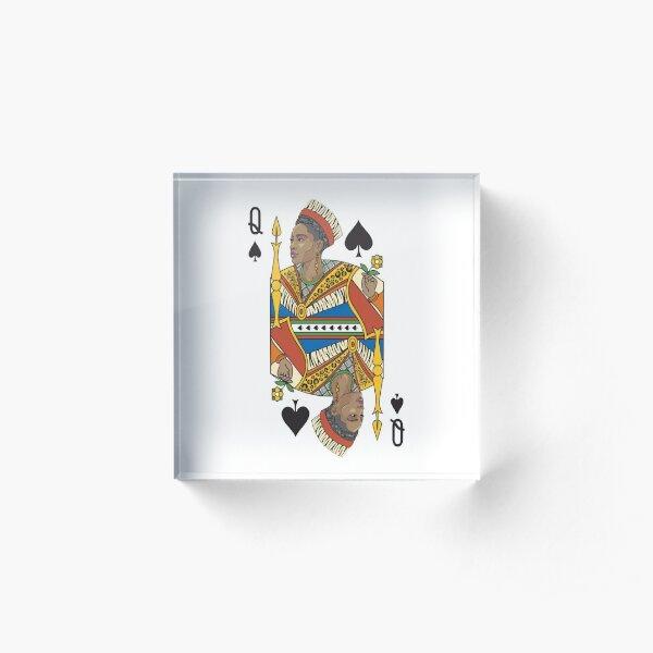 BLACK QUEEN | Gifts for women, African American Queen, Afro European Queen.  Acrylic Block