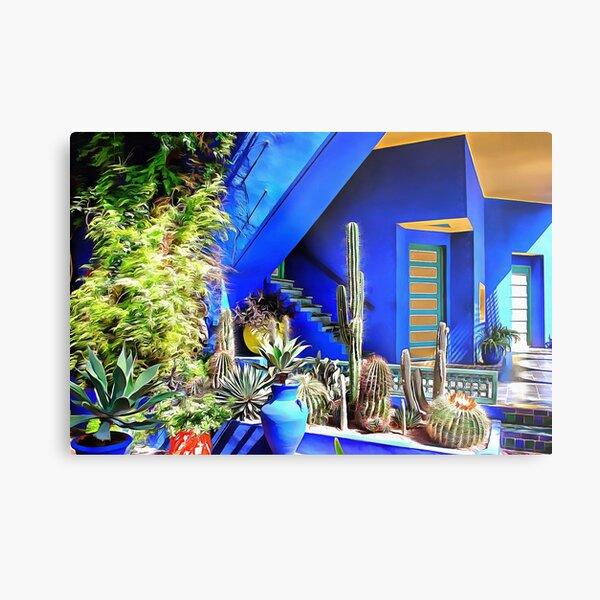 Cubist Villa Jardin Majorelle Metal Print