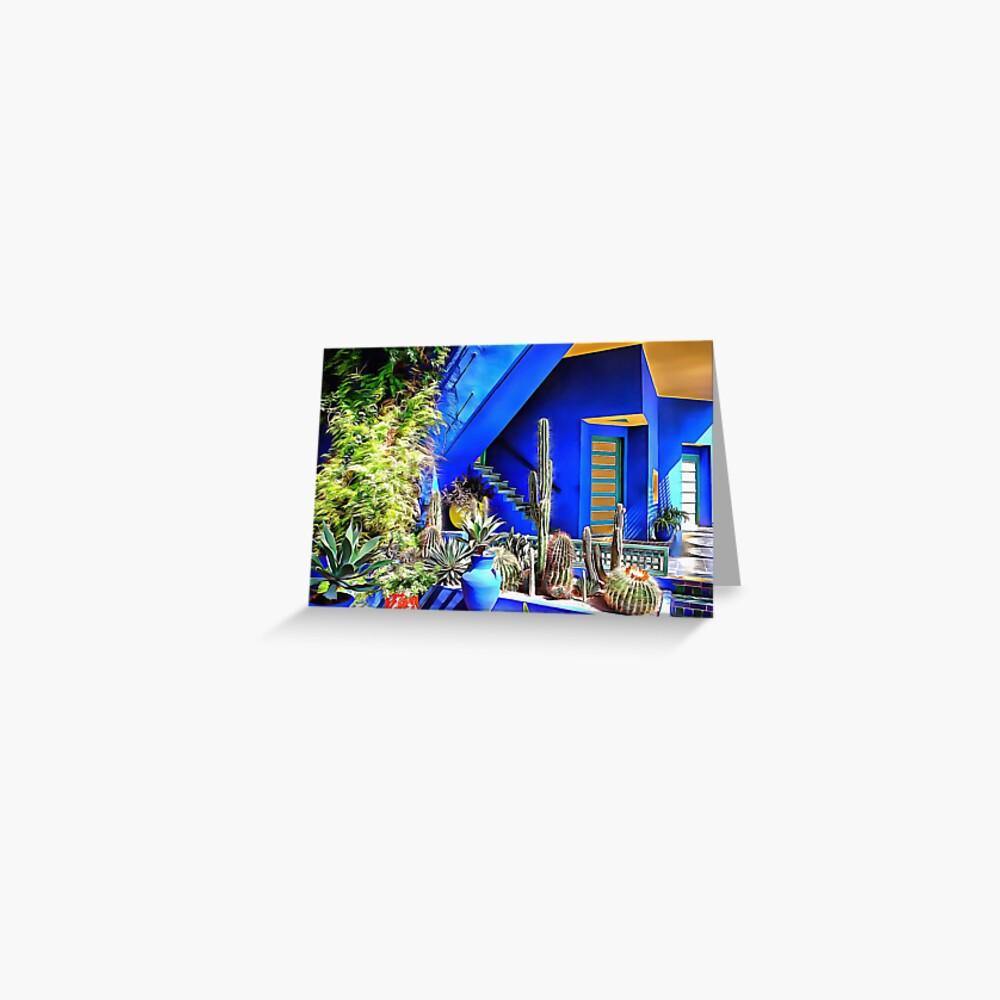 Cubist Villa Jardin Majorelle Postcard By Shannathshima Redbubble