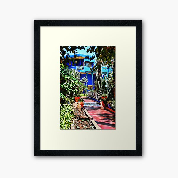 Approach to Cubist Villa Framed Art Print