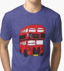 Cute London Bus Tri-blend T-Shirt