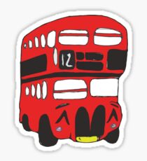 Cute London Bus Sticker