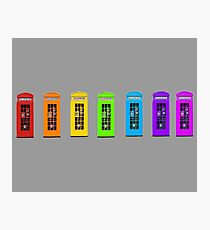 Rainbow Phone boxes  Photographic Print