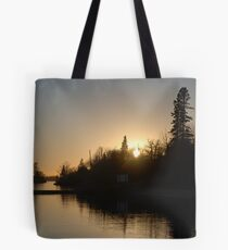 Lake of the woods sunset Tote Bag