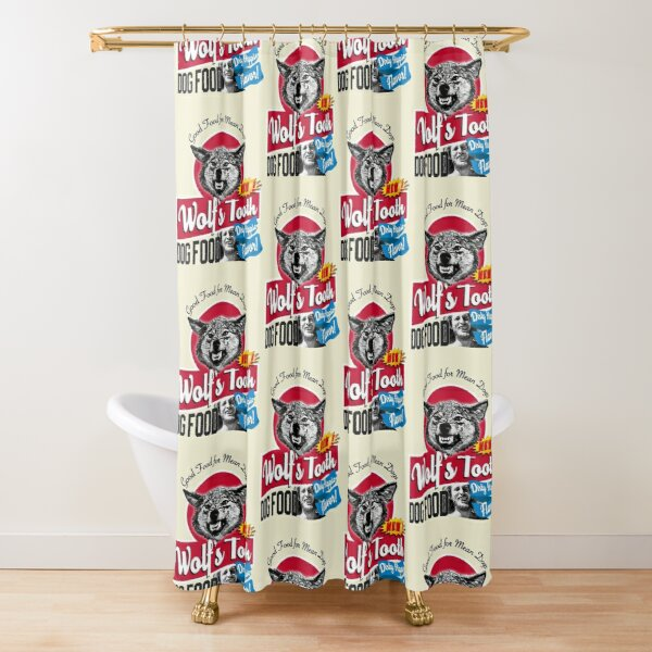 Wolf's Tooth Dog Food Dirty Hippie Flavor Shower Curtain