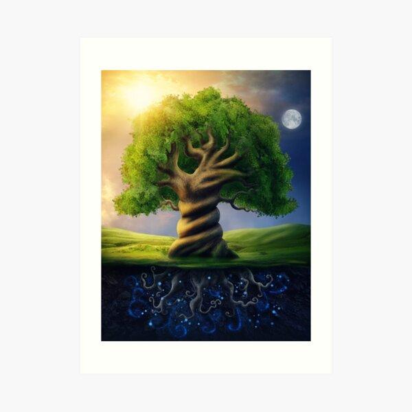 Weltenbaum Kunstdruck