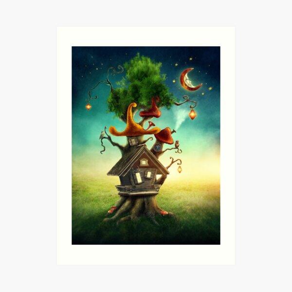 Magisches Baumhaus Kunstdruck