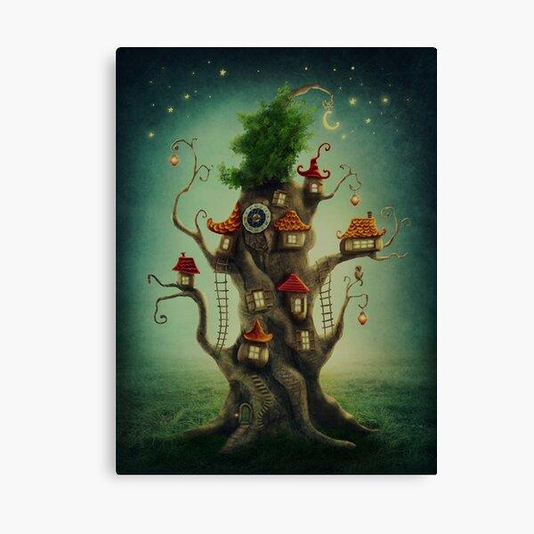 Casa del árbol mágico Lienzo