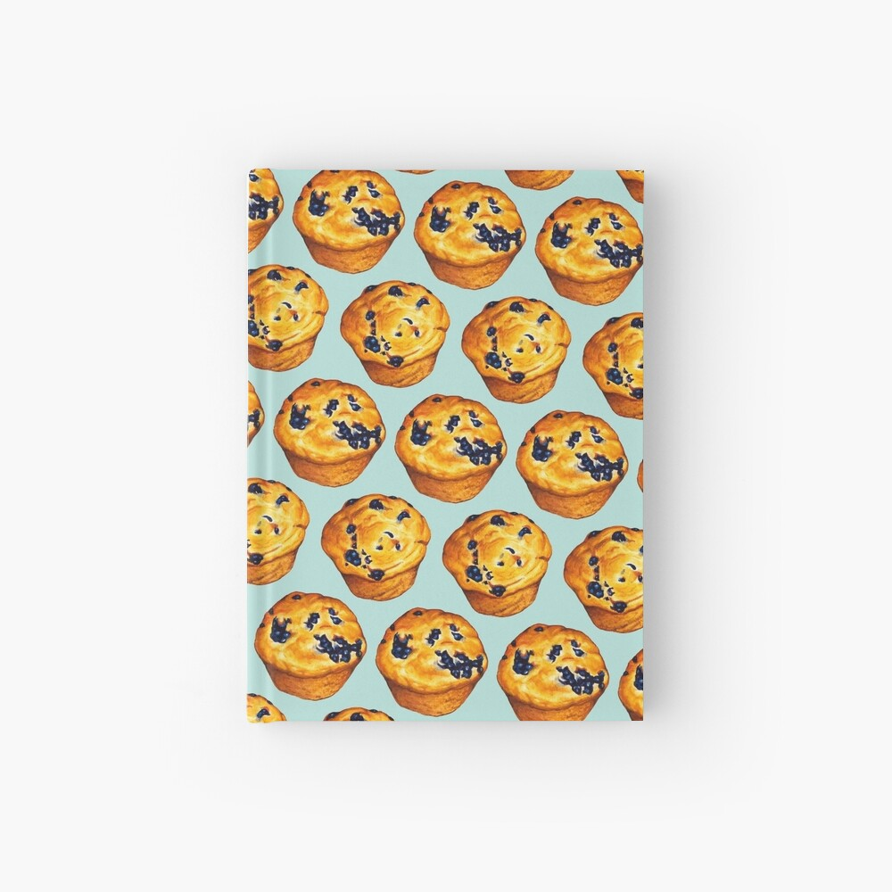 Blueberry Muffin Pattern Hardcover Journal