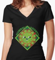 Humboldt county Cute pot plant Women's Fitted V-Neck T-Shirt