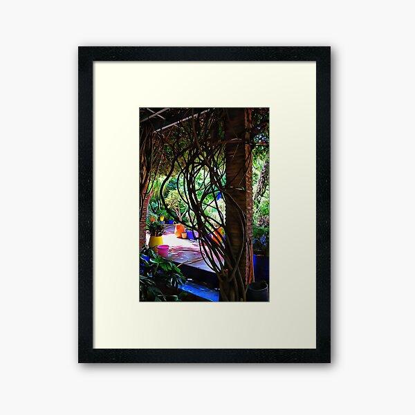 Colorful Plant Pots Marrakech 3 Framed Art Print