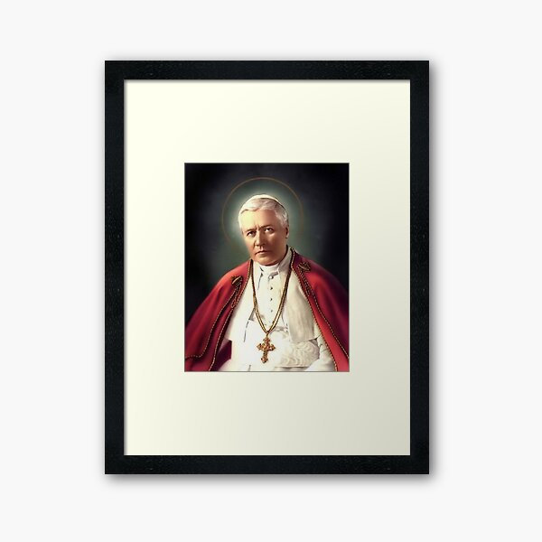 Pope Pius X - Saint of the Day 21 august Framed Art Print