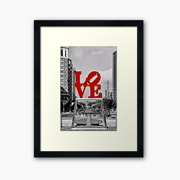City Of Brotherly LOVE Framed Art Print