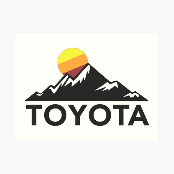 Toyota Mountain Design Art Print