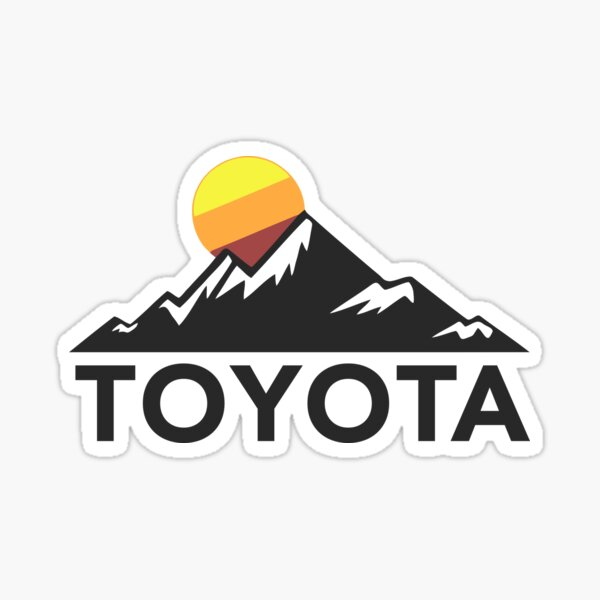 Toyota Mountain Design Sticker