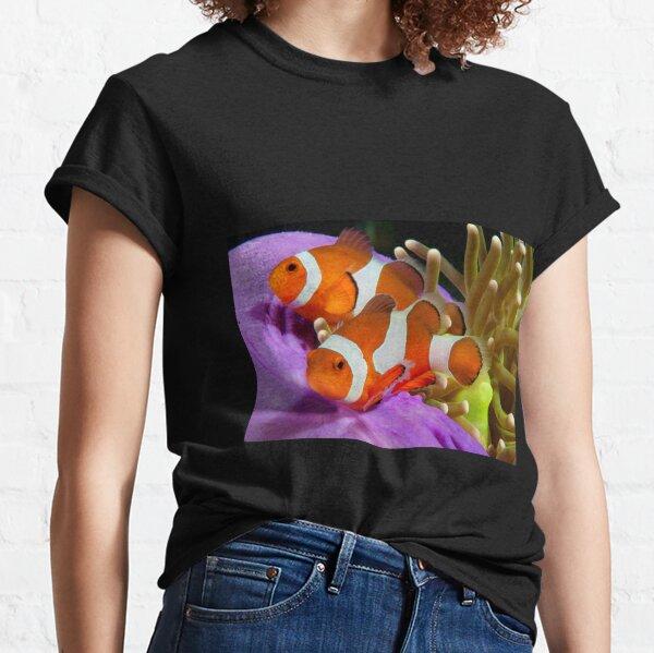 Two False Clown Anemonefish, Kapalai, Sabah, Malaysia Classic T-Shirt
